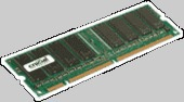 Crucial 1GB 168-pin DIMM SDRAM PC133 ECC Reg CL=3