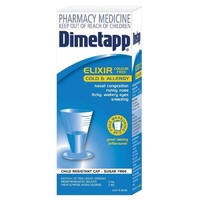 Dimetapp Cold & Allergy Elixir - Colour-Free (200ml Bottle)
