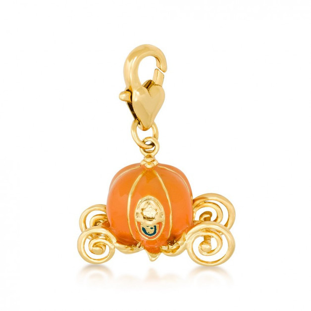 Couture Kingdom: Disney - Cinderella Pumpkin Carriage Charm (Yellow Gold)