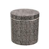 Ceramic Bathroom Canister (Black Spot)