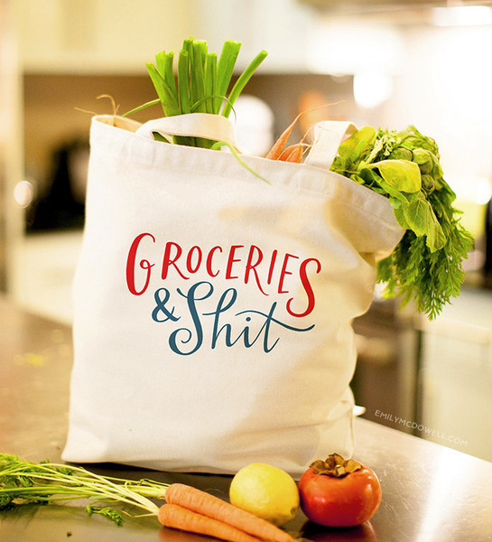 Emily McDowell Groceries & Sh*t Shopping Tote image