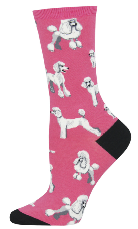 Socksmith: Women's Oodles Of Poodles Crew Socks - Pink