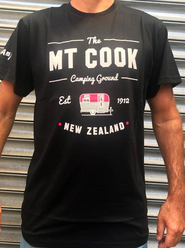 Moana Road: Mt Cook Unisex Tee Black - XX-Large