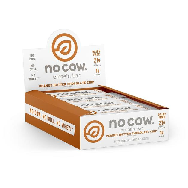 No Cow Dairy Free Protein Bar - Peanut Butter Choc Chip (Box of 12)
