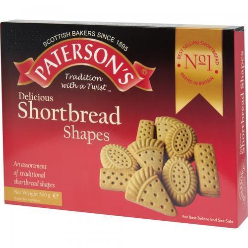 Paterson's Shortbread Shapes Assortment 500g