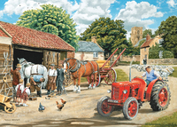 Holdson: 500 Piece XL Puzzle - The English Village S3 (Passing the Smithy)