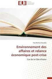 Environnement Des Affaires Et Relance Economique Post-Crise