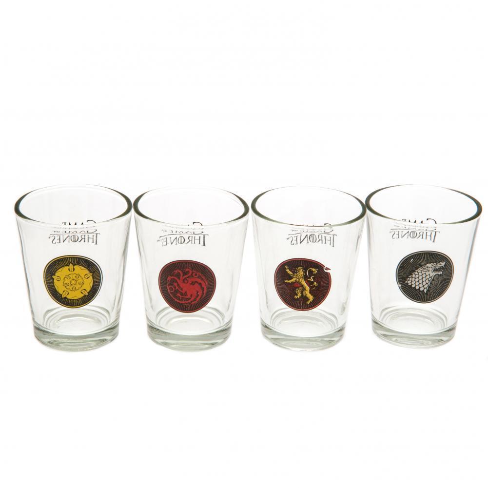 b6a5af7cb889 Game of Thrones  House Sigil Shot Glass (Set of 4) image ...