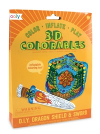 Ooly: 3D Colorables Activity Kit - Dragon Sword & Shield