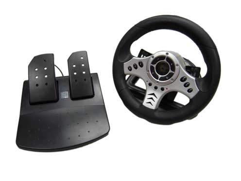 Futuretronics Wired Racing Wheel for PS2 image