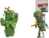 "Plants vs Zombies Soldier Zombie vs. Camo Cactus 5"" Action Figure Set"