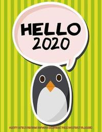 Hello 2020- Happy Little Penguin 2019-2020 Academic Year Monthly Planner by Laura's Cute Planners