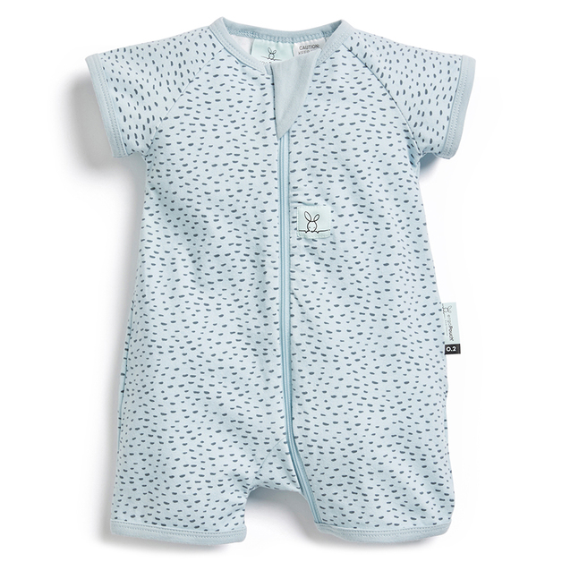 ErgoPouch: 0.2 TOG Short Sleeve Layers - Pebble/6-12 months