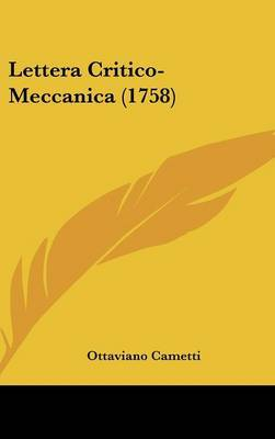 Lettera Critico-Meccanica (1758) by Ottaviano Cametti image
