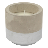 Concrete Citronella Candle - Silver (Small)
