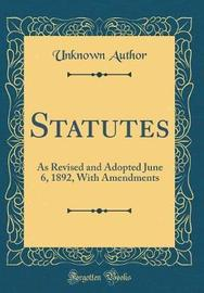 Statutes by Unknown Author image