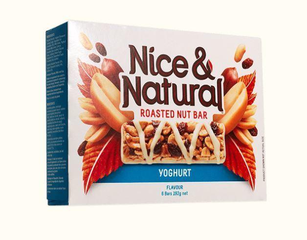 Nice & Natural Roasted Nut Bar - Yoghurt (192g x 8)