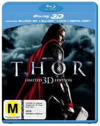 Thor - 3D Edition: Blu-ray 3D / Blu-ray / DVD / Digital on DVD, Blu-ray, DC