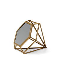Me & My Trend: Diamond Sitting Mirror - Medium (Gold)