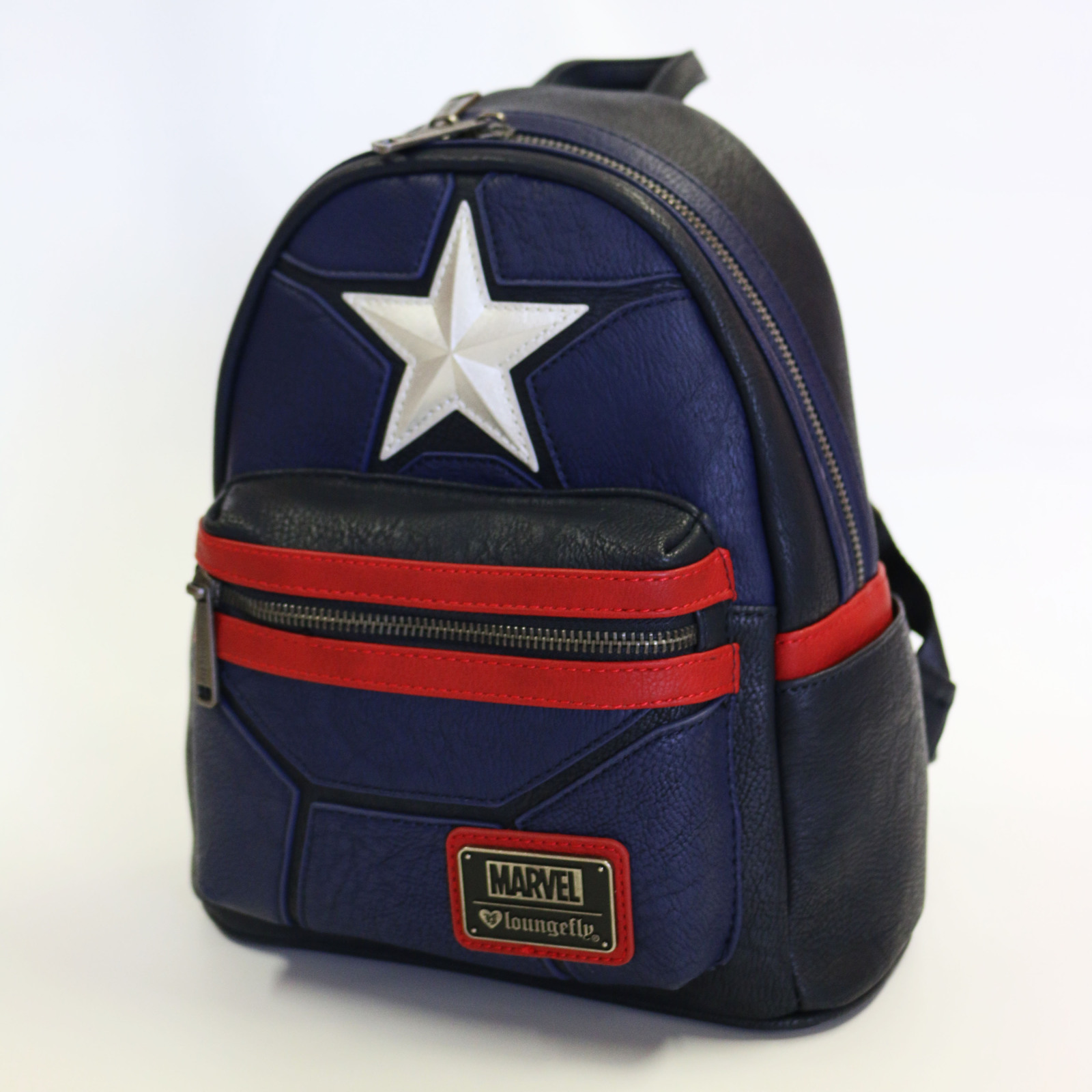 ... Loungefly  Marvel Captain America - Mini Star Backpack image 0f80c8d2bc8e5