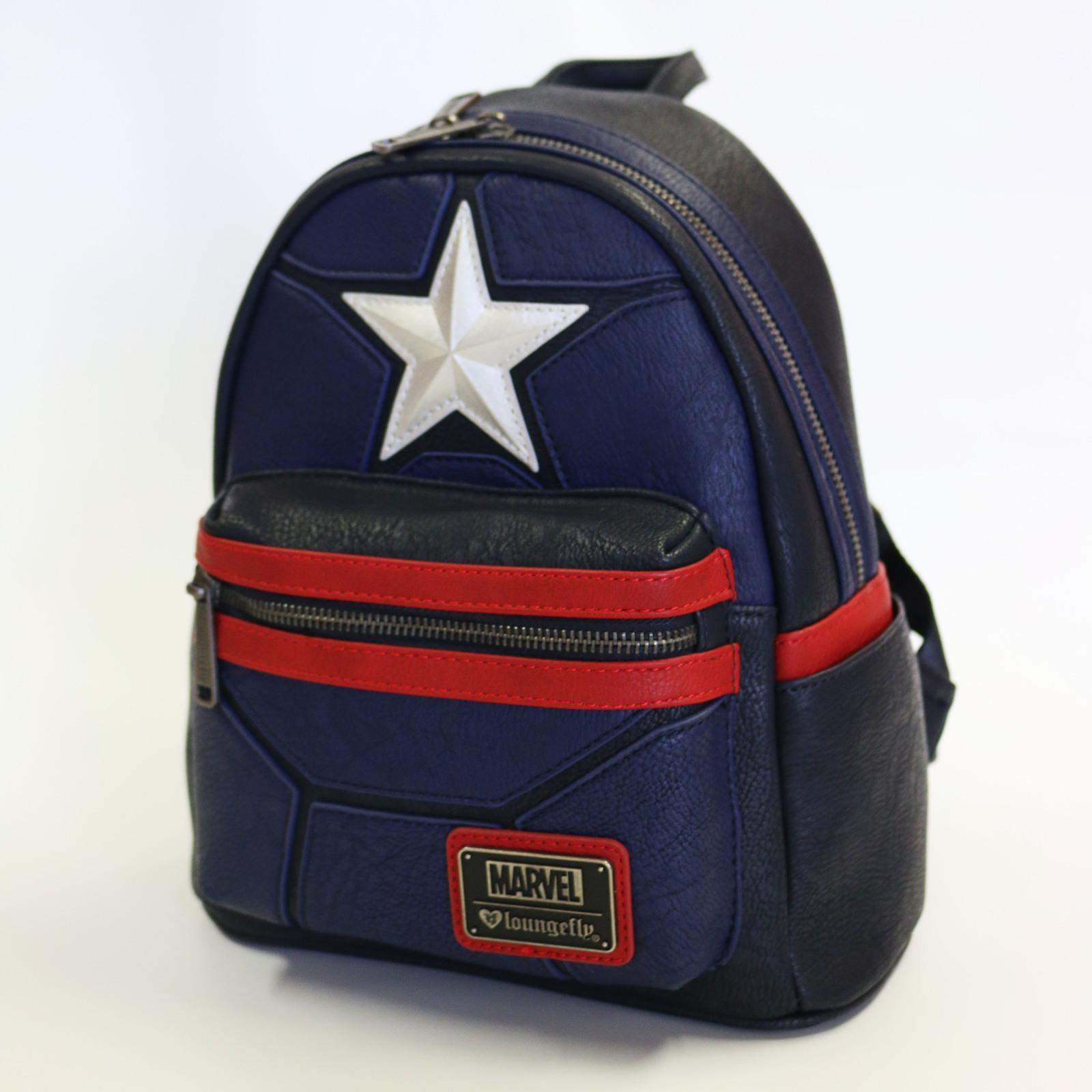 c263218f76ec ... Loungefly  Marvel Captain America - Mini Star Backpack image