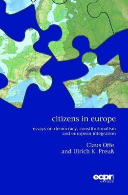Citizens in Europe by Claus Offe image