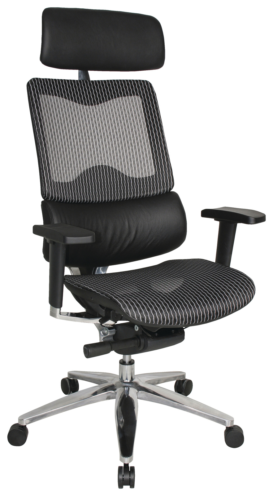 Croxley Tokyo Executive Mesh Back Chair (Black Leather) image