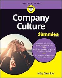 Company Culture For Dummies by Mike Gannino