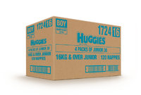 Huggies Ultra Dry Nappies Bulk Value Box - Size 6 Junior Boy (90)