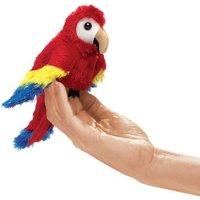 Folkmanis Mini Finger Puppet - Scarlet Macaw