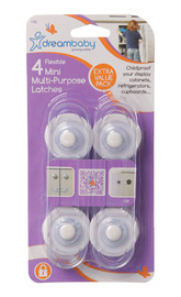 Dream Baby Flexible Mini Multi-Purpose Latches - 4 Pack