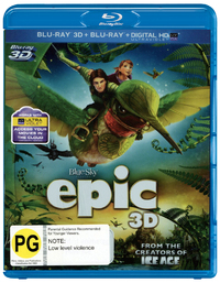 Epic 3D on Blu-ray, 3D Blu-ray, UV