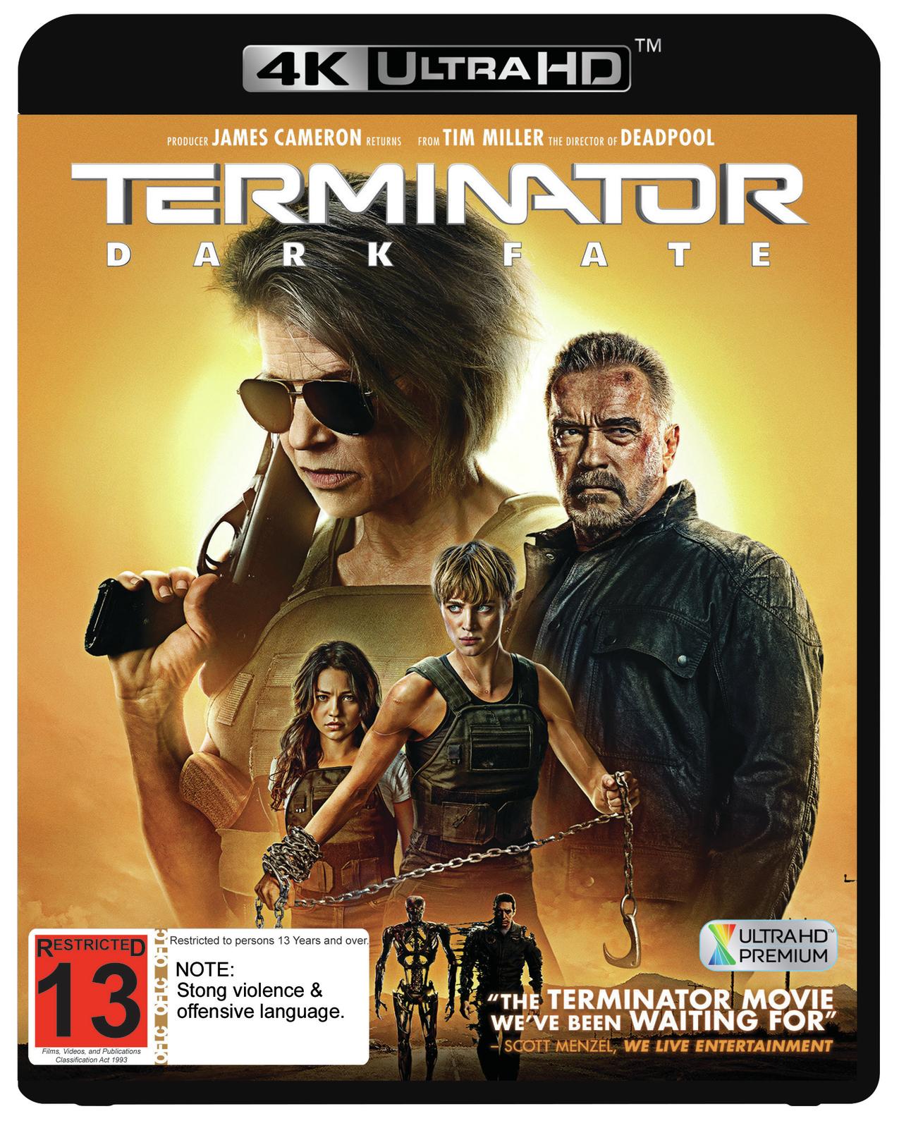 Terminator: Dark Fate on UHD Blu-ray image