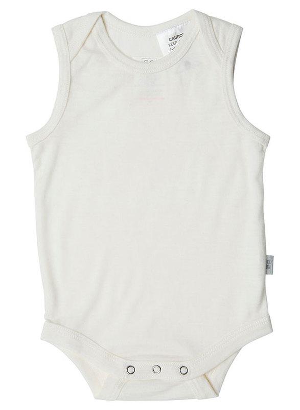 Babu: Merino Singlet Bodysuit - Cream (2 Years)