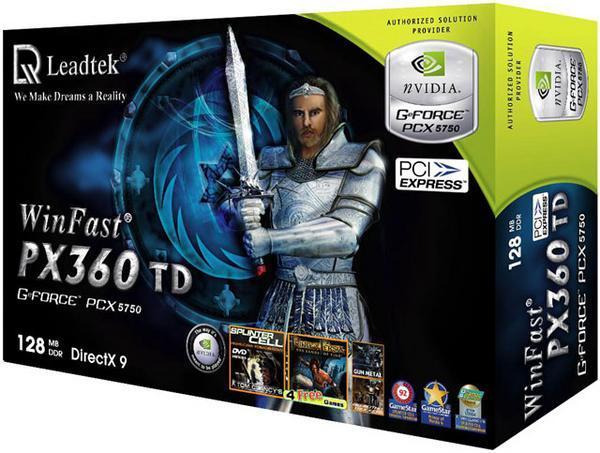 Leadtek Graphics Card WinFast PX360 TD 128M PX5750 PCIE