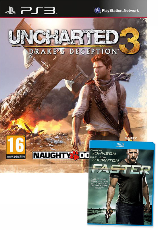 Uncharted 3: Drake's Deception + bonus 'Faster' Blu-ray! for PS3