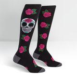 Womens - Sugar Skull Knee Socks