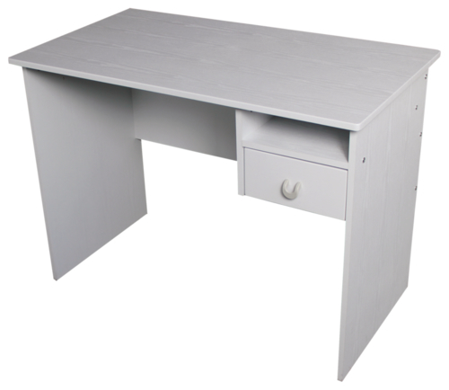 Croxley Computer Desk With Shelf Pen Draw (White Woodgrain) image