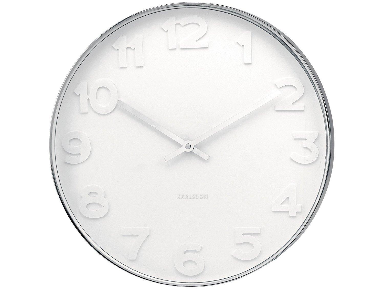 Karlsson Wall Clock - Mr. White (Steel - Small) image
