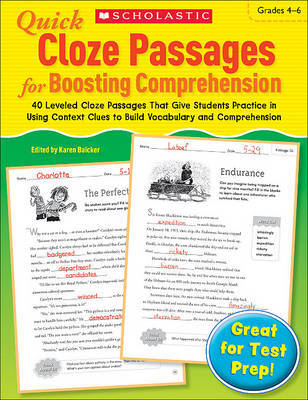 Quick Cloze Passages for Boosting Comprehension, Grades 4-6 by Scholastic