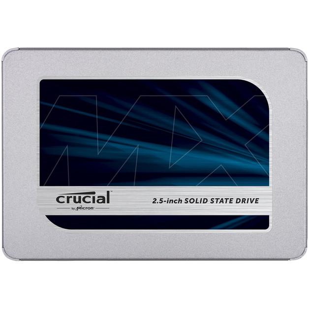 """Crucial MX500 500GB SATA 2.5"""" 7mm (with 9.5mm adapter) Internal SSD"""
