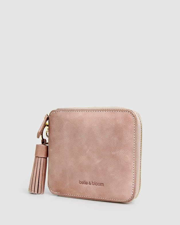 Belle and Bloom: Nora Leather Wallet - Dusty Rose