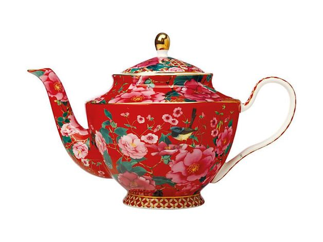 Maxwell & Williams Teas & C's: Silk Road Teapot with Infuser - Cherry Red
