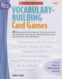 Vocabulary-Building Card Games: Grade 5 by Liane B Onish image