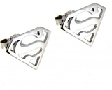 Superman - Sterling Silver Stud Earrings