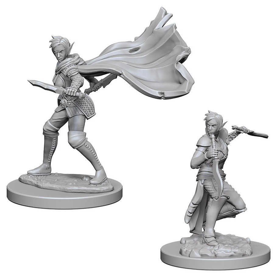 D&D Nolzur's Marvelous: Unpainted Miniatures - Elf Female Rogue image