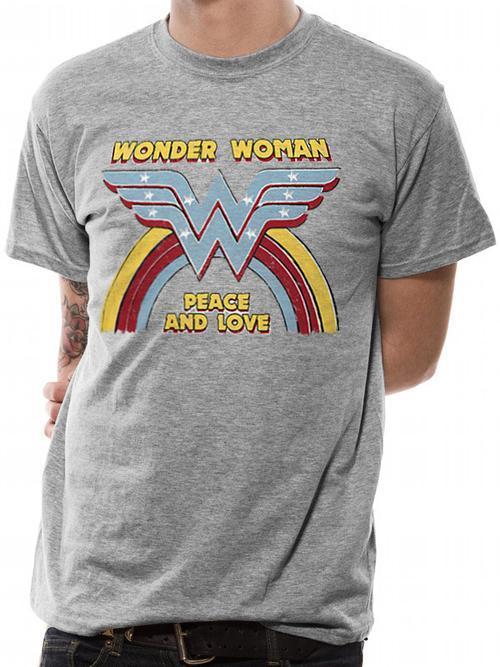 Wonder Woman Rainbow Vintage Tee - Large
