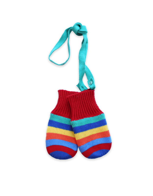 Toby Tiger: Multi Stripe Knitted Mittens (XL/4-6y)