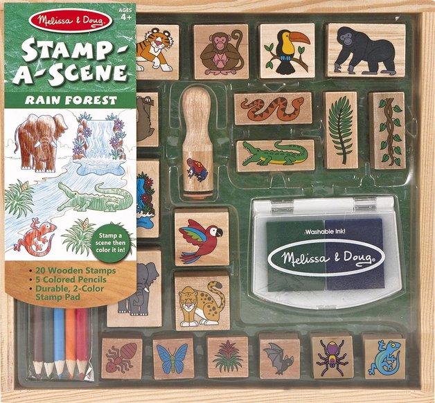 Melissa & Doug: Stamp-a-Scene Rain Forest