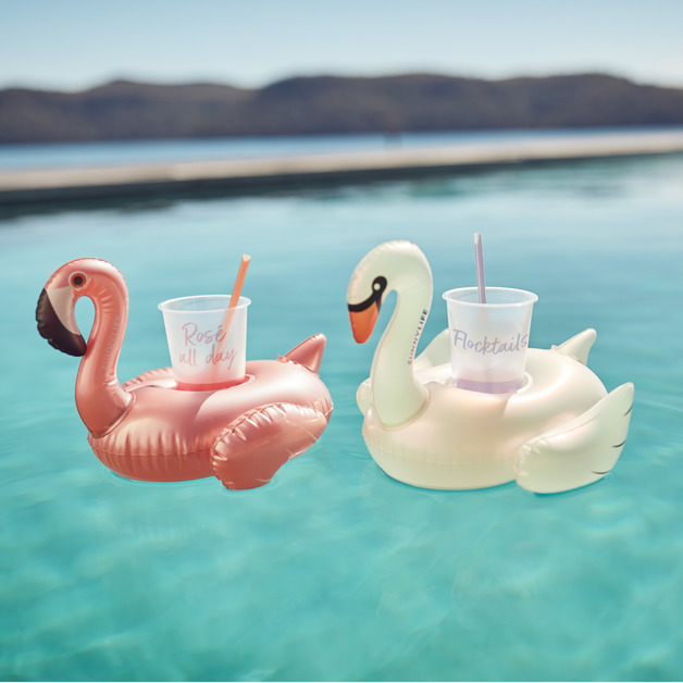 Sunnylife: Party Inflatable Drink Holders - Disco Birds (Set of 2)